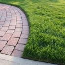 Nicely Edged Grass at Paver Walkway